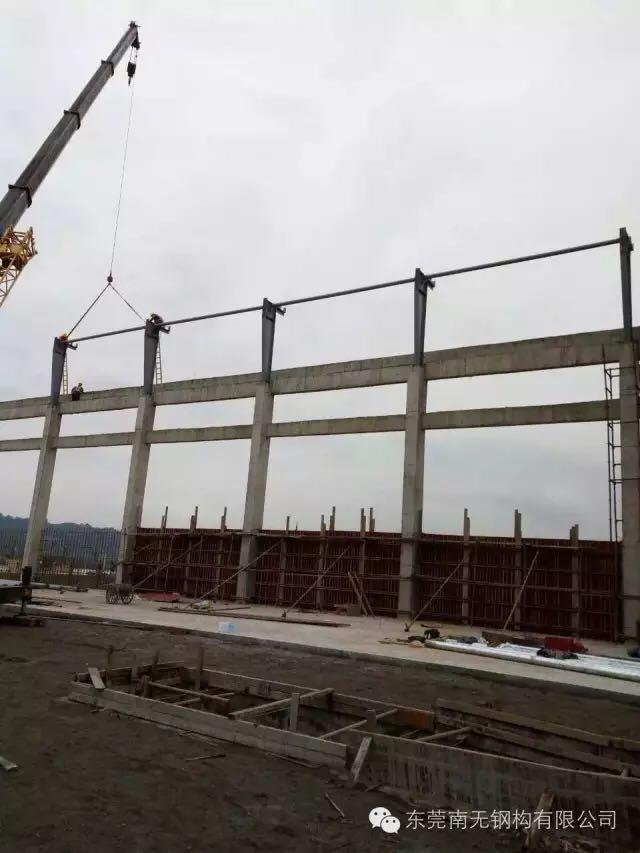 来自何光胜发布的公司动态信息:结构总跨度约50米有中柱,原结构为砼柱+... - 东莞南无钢构有限公司